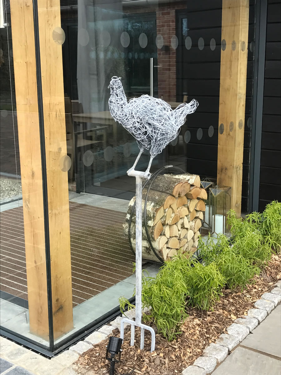 A limited series of 22, this wire sculpture's original sketch has become the logo for the restaurant and cookery school